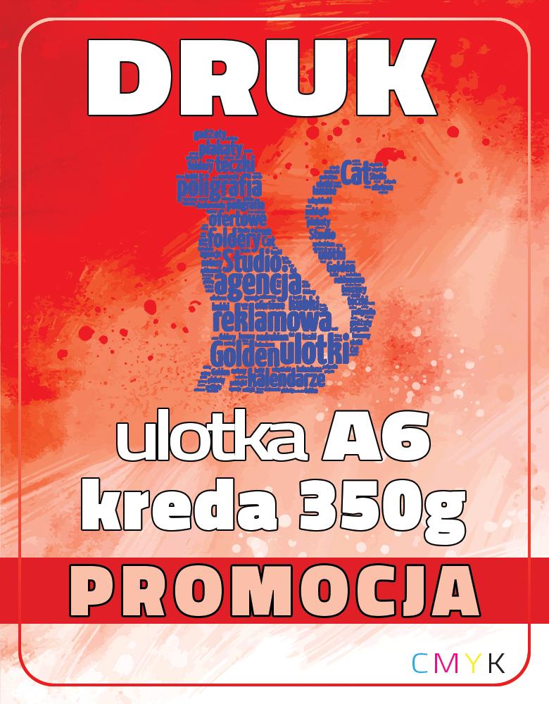 ULOTKA A6 KREDA 350g